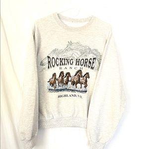Vintage Rocking Horse Ranch crewneck
